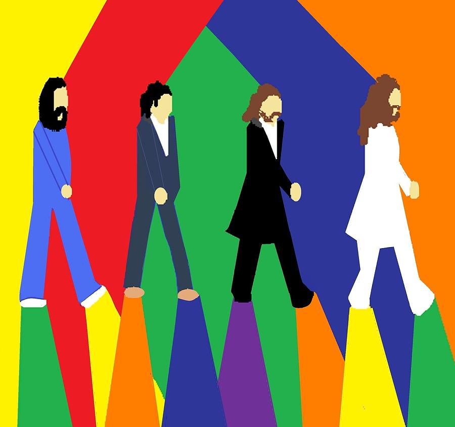 Beatles Digital Art - The Fab Four by Jared Cappel