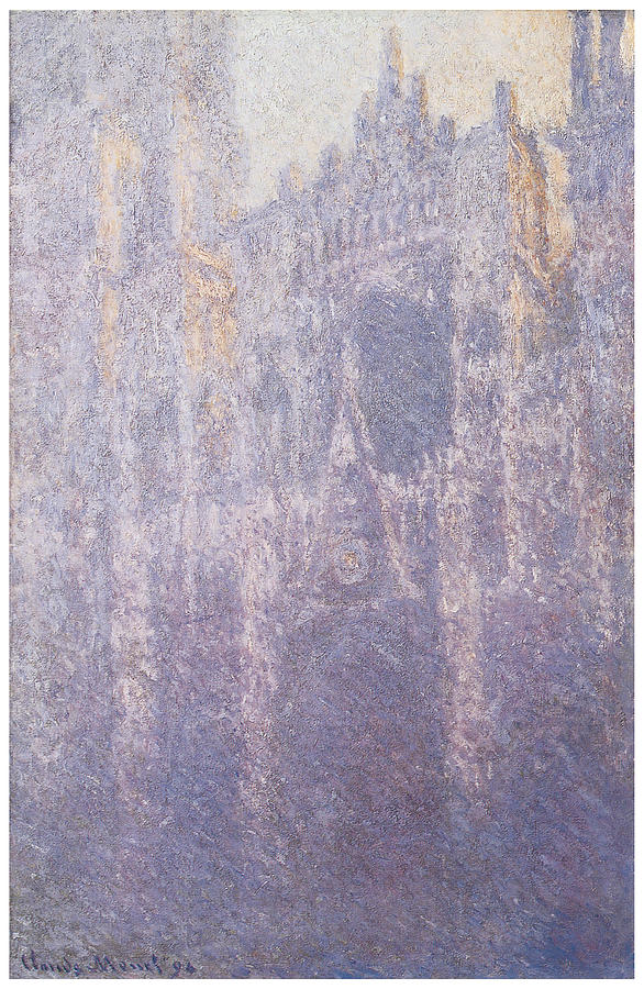 Cathedral Painting - The Facade Morning Mist by Claude Monet