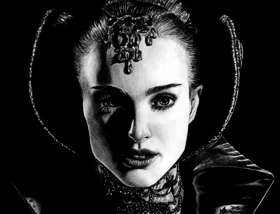 Padme Drawing - The Face Of Peace by Kayleigh Semeniuk