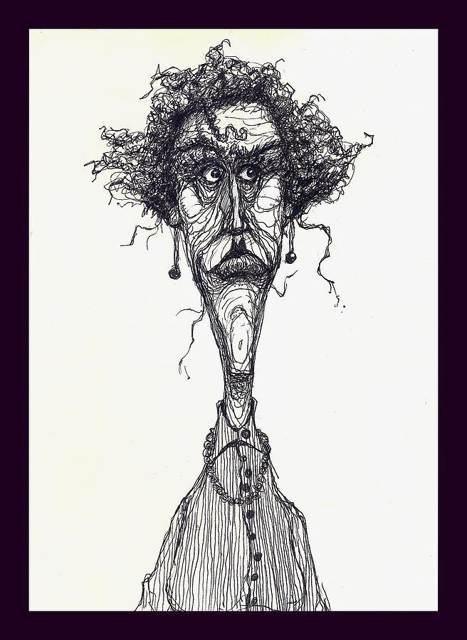Illustration Drawing Drawing - The Face by Wayne Carlisi