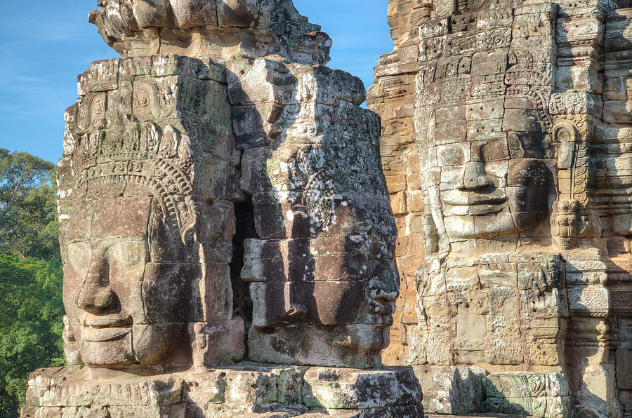 The Faces Of Ancient Khmer Photograph by Thant Zaw Wai