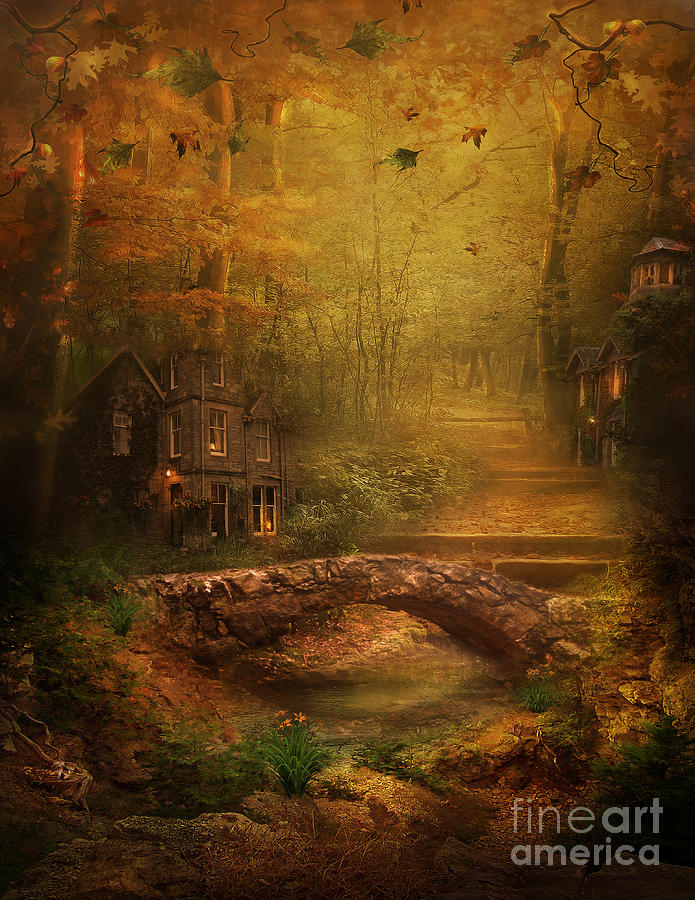 Fairy Digital Art - The Fairy Forest In The Fall by Lynn Jackson