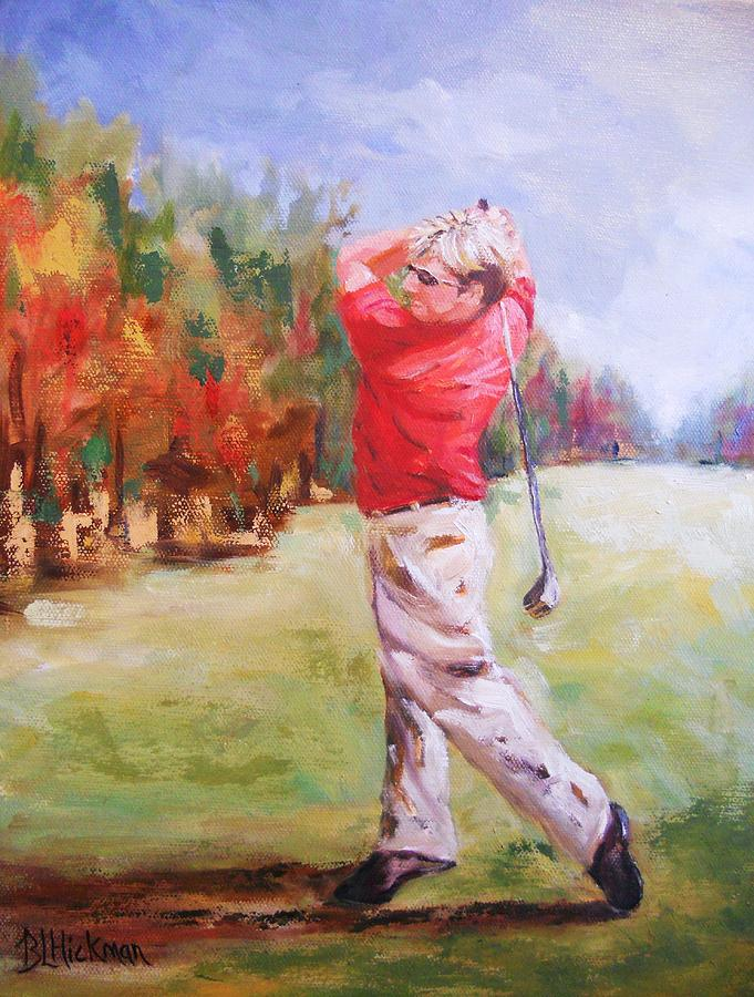 Golf Painting - The Faithful Swing by Brandi  Hickman