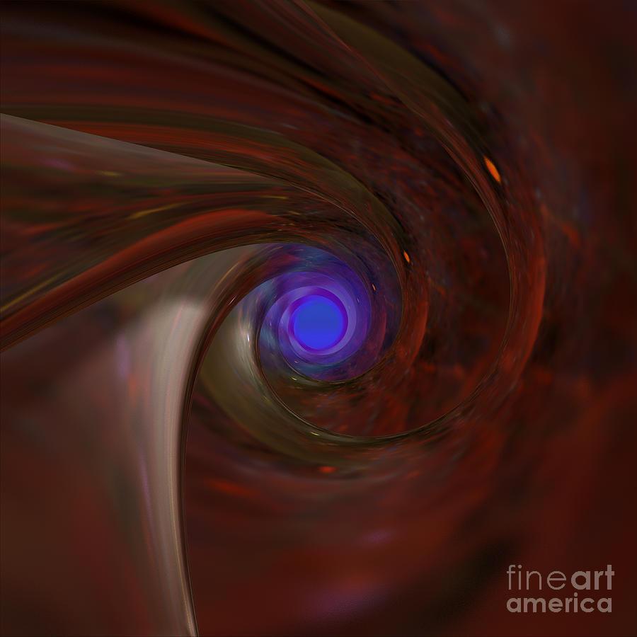 Peter R Nicholls Abstract Fine Artist Canada Digital Art - The Falcons Eye   Ultra Violet Vision by Peter R Nicholls