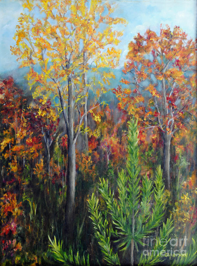 Fall Painting - The Fall by Carolyn Shireman