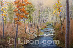 Fall Landscape Painting - The Fall Of Autumn by Liron Sissman