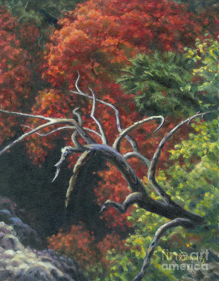 Tree Painting - The Fallen Tree by Carl Downey