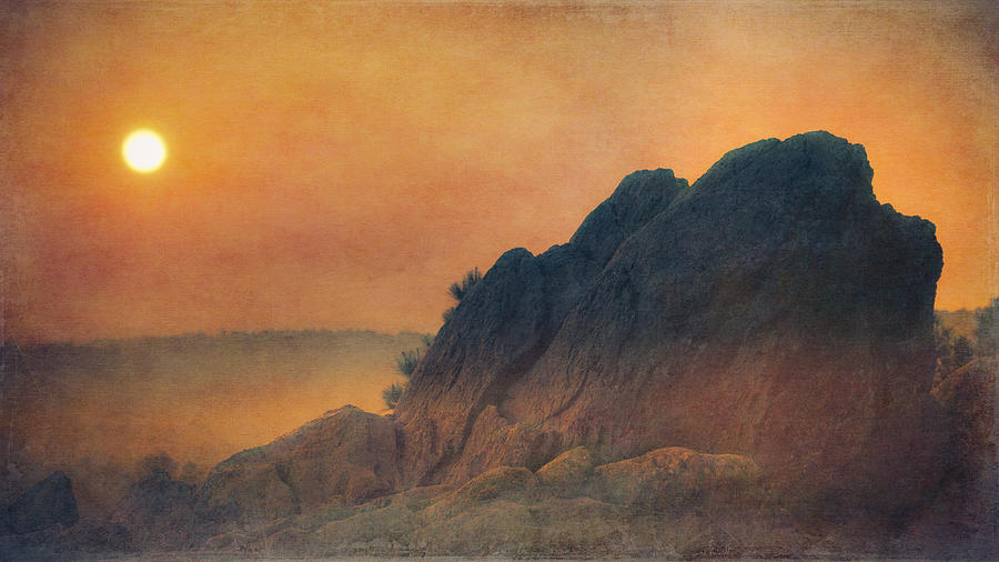 Photo Photograph - The False Lovers Rock At Sunset by Loriental Photography