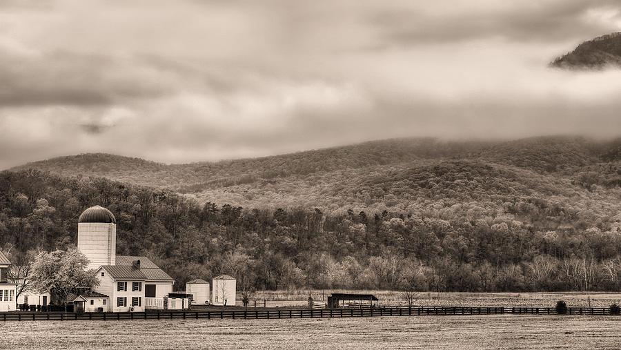 Farm Photograph - The Family Farm Bw by JC Findley