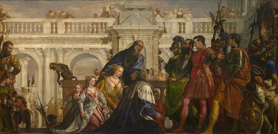 Cinquecento Painting - The Family Of Darius Before Alexander by Paolo Veronese