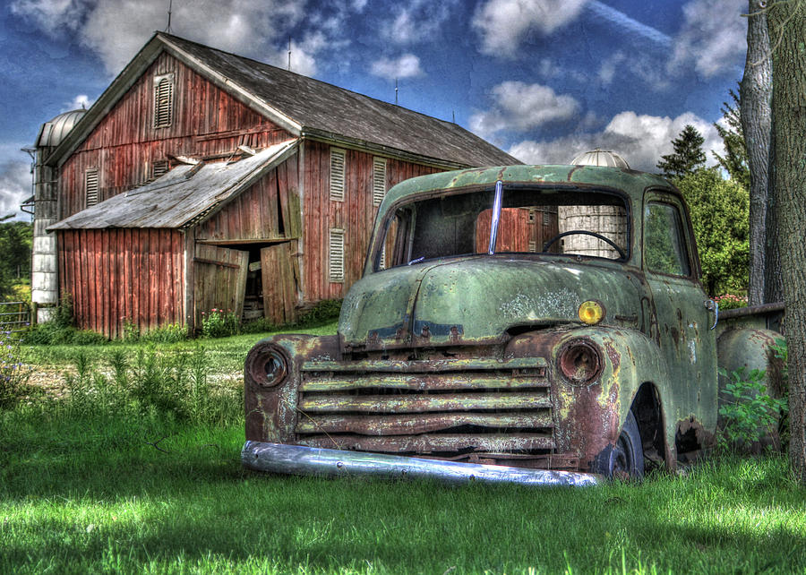 Barn Photograph - The Farm Truck by Lori Deiter