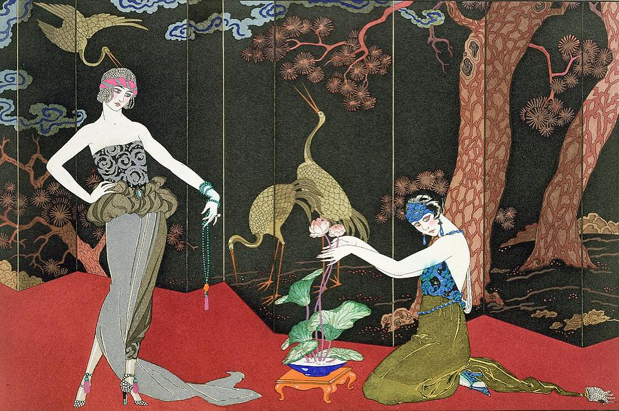 Print Painting - The Fashion For Lacquer by Georges Barbier