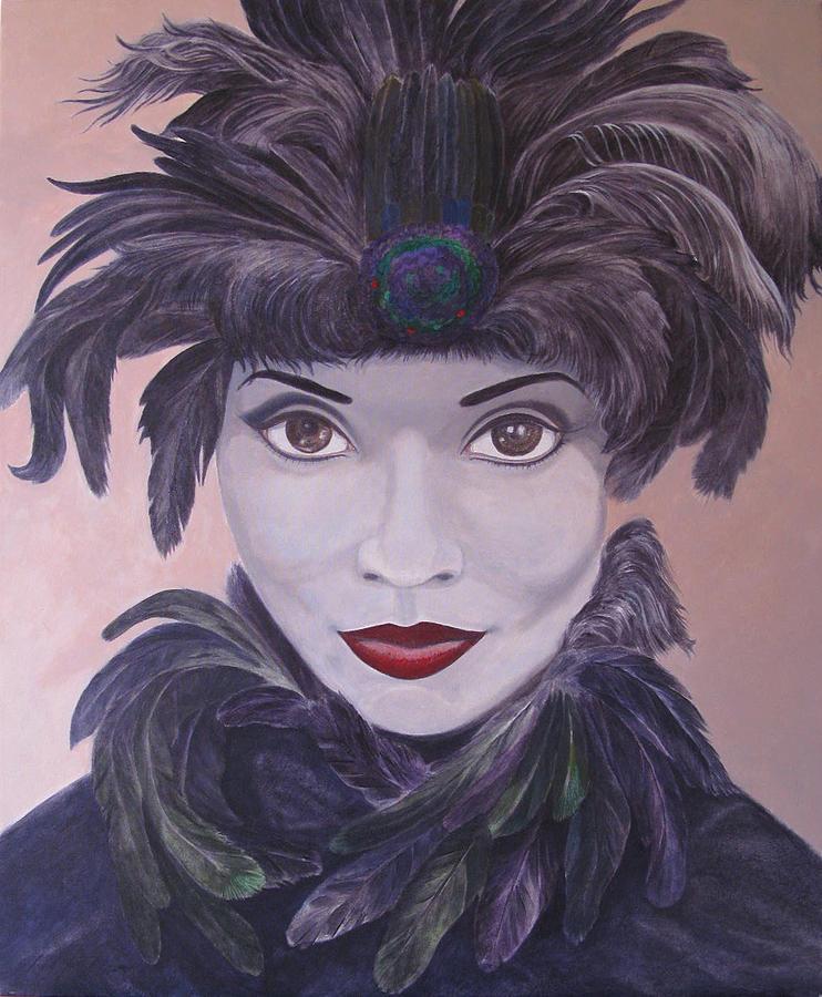 Leonard Filgate Painting - The Feathered Lady by Leonard Filgate