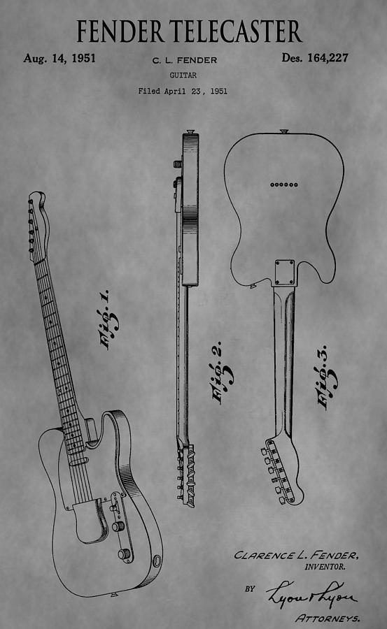 The Fender Telecaster Drawing