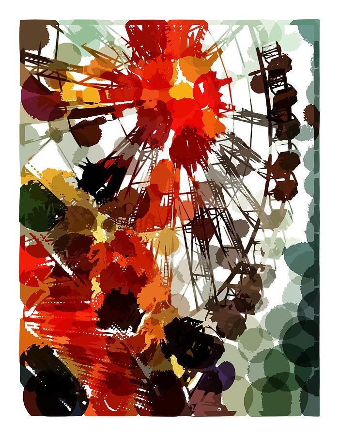 Mark Compton Digital Art - The Ferris Wheel by Mark Compton
