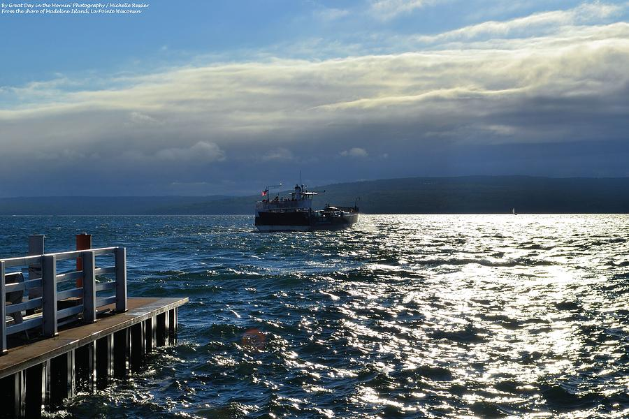 Madeline Island Photograph - The Ferry by Michelle and John Ressler