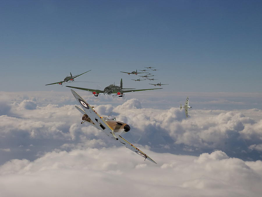Aircraft Photograph - The Few In Action by Pat Speirs