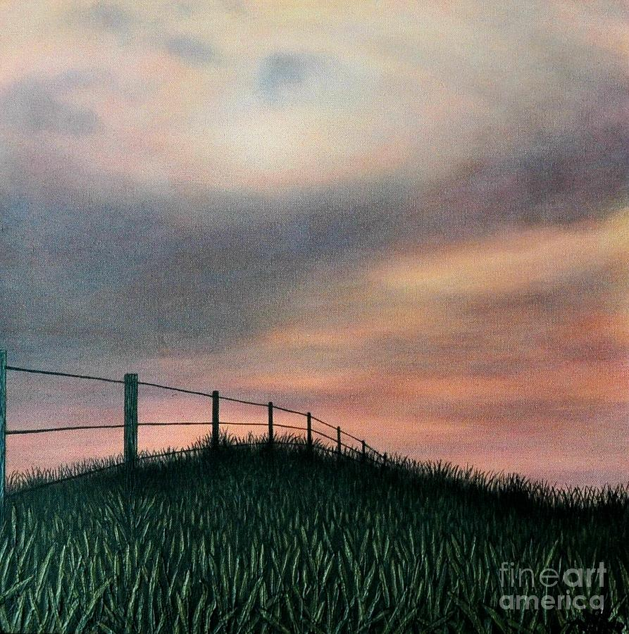 Landscape Painting - The Field by J Barth