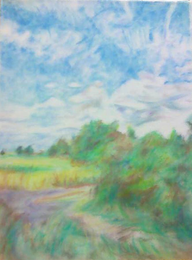 Landscape Pastel - The Field by Kim Cyprian