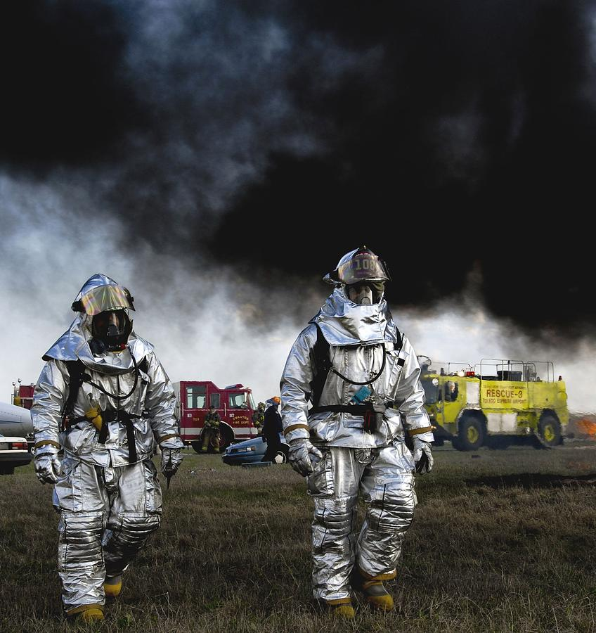 Firemen Photograph - The Fight Is Over by Mountain Dreams