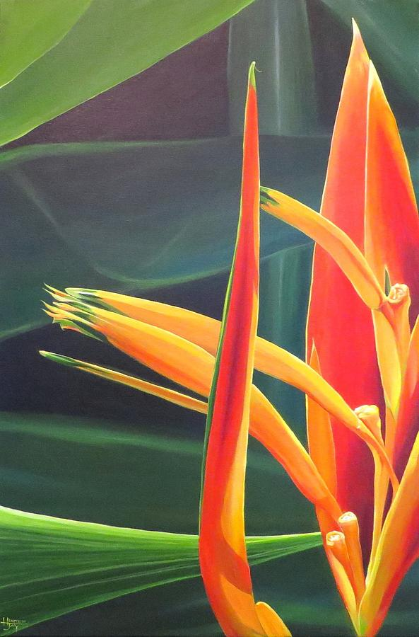 Bird Of Paradise Painting - The Final Flame by Hunter Jay