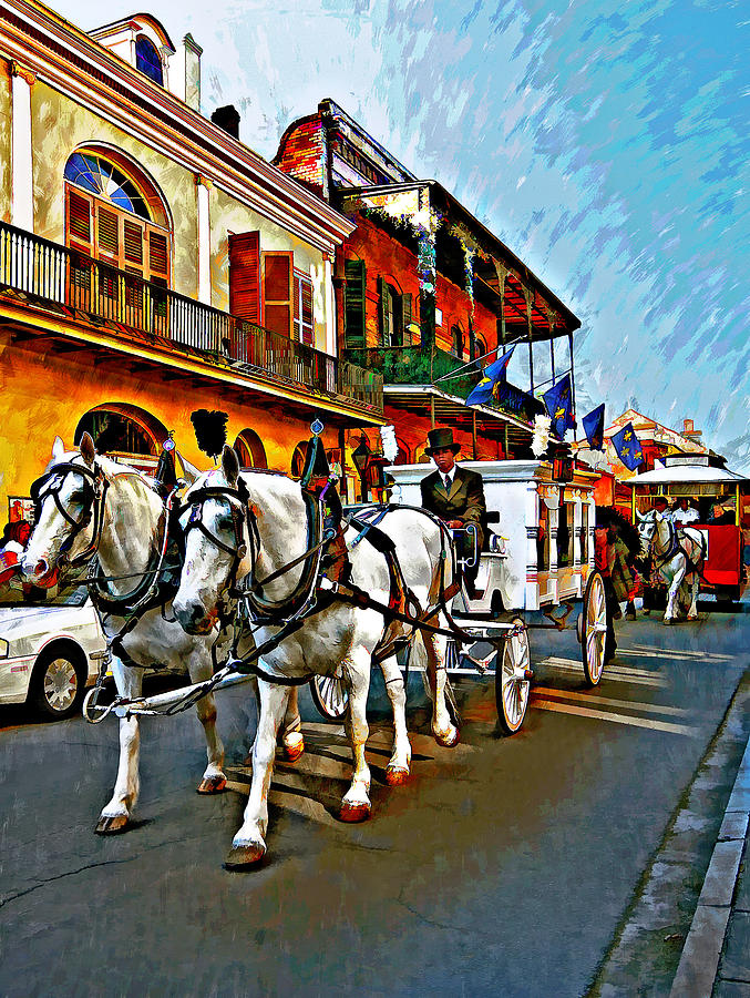 French Quarter Photograph - The Final Ride Painted by Steve Harrington