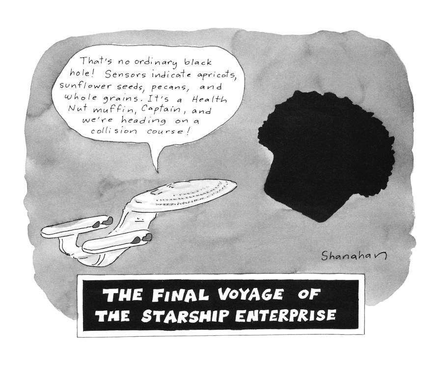 The Final Voyage Of The Starship Enterprise Drawing by Danny Shanahan
