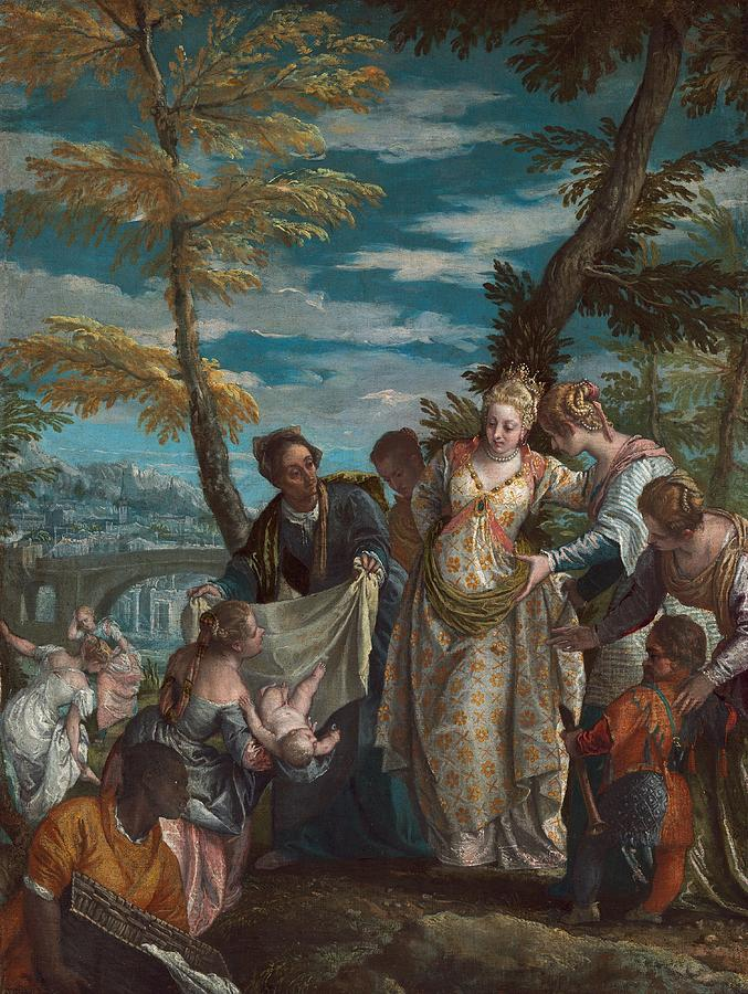 Cinquecento Painting - The Finding Of Moses by Paolo Veronese