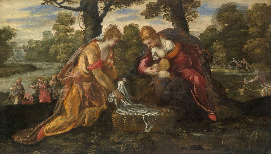 Cinquecento Painting - The Finding Of Moses by Tintoretto