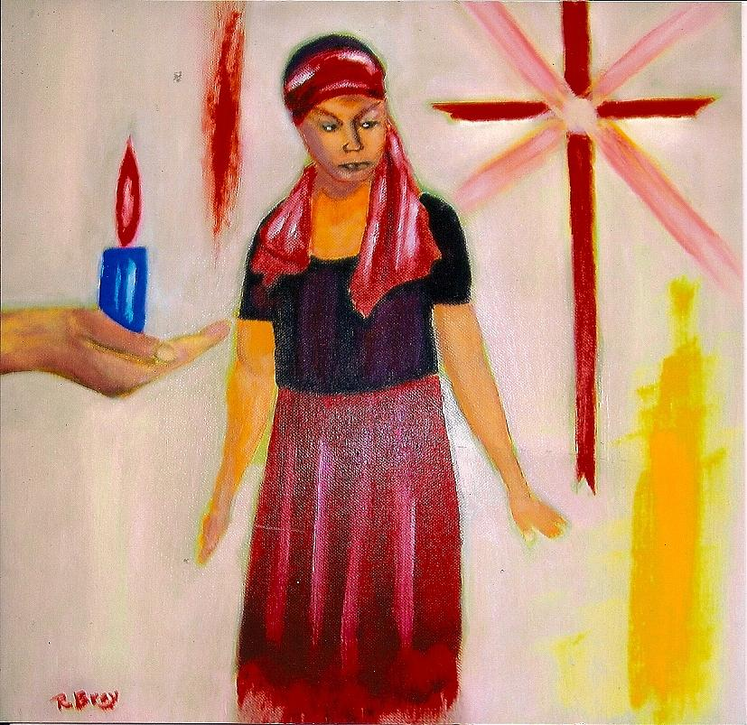 The Fire And The Cross Painting by Robert Bray