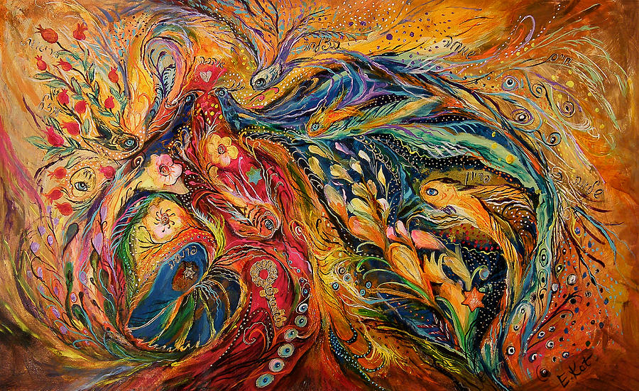 Original Painting - The Fire Dance by Elena Kotliarker