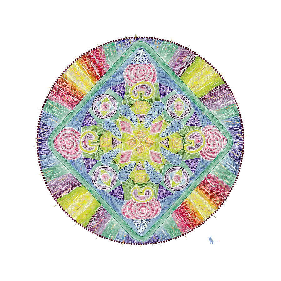 Mandala Painting - The Fire Of Cleansing by Vanda Omejc