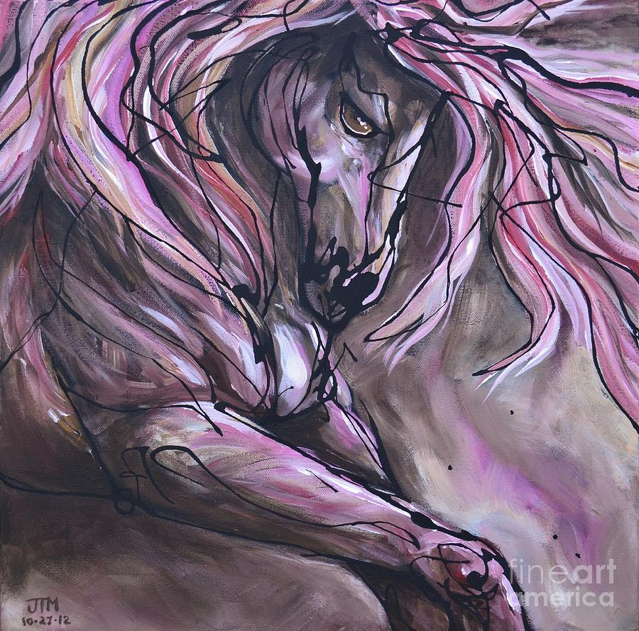 Horse Painting - The Fire Within by Jonelle T McCoy