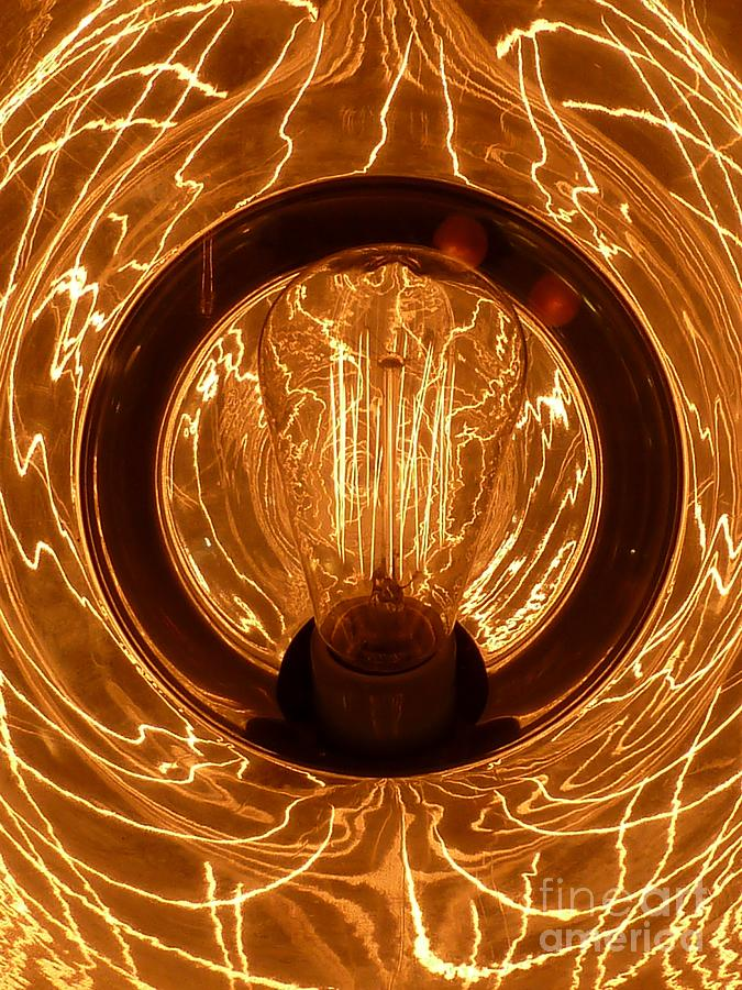 Abstract Photograph - The Fire Within by Newel Hunter