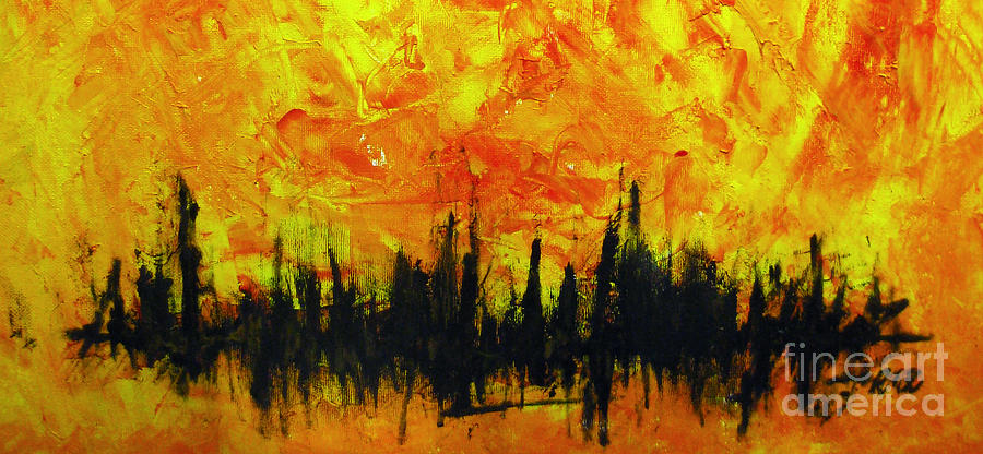 The Fire Within Painting - The Fire Within by Raul Morales