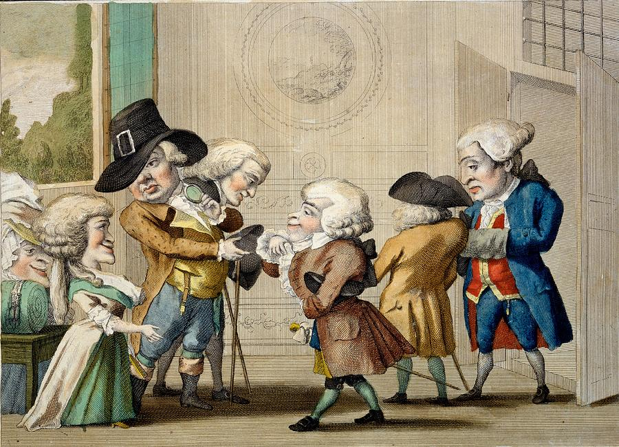 Marriage Drawing - The First Approach, C.1790 by Carlo Lasinio