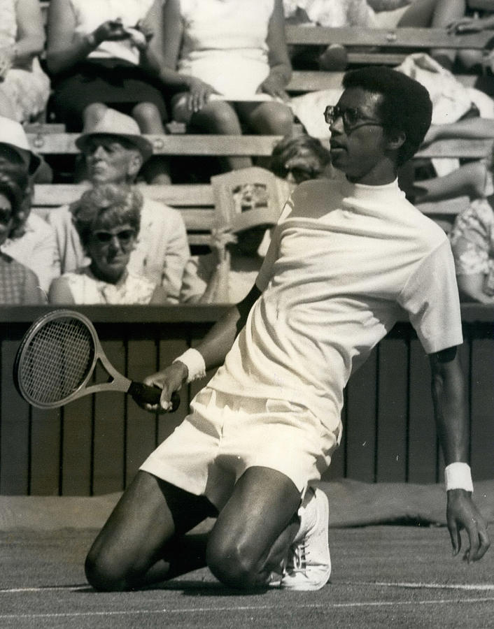 Retro Photograph - The First Dai Of The Wimbeddon Tennis Tournament Arthur by Retro Images Archive