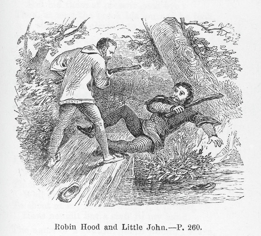 15db68a88a5 Robin Drawing - The First Encounter Between Robin Hood by Mary Evans  Picture Library