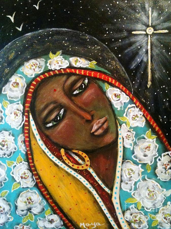 Christmas Painting - The First Noel by Maya Telford