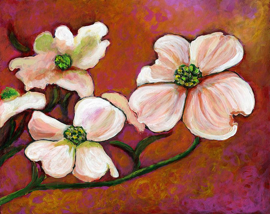 Dogwood Painting - The First Sign by Eve  Wheeler