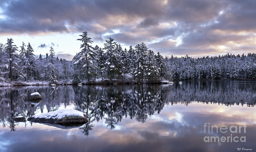Landscape Photograph - The First Snow by Nancy Dempsey