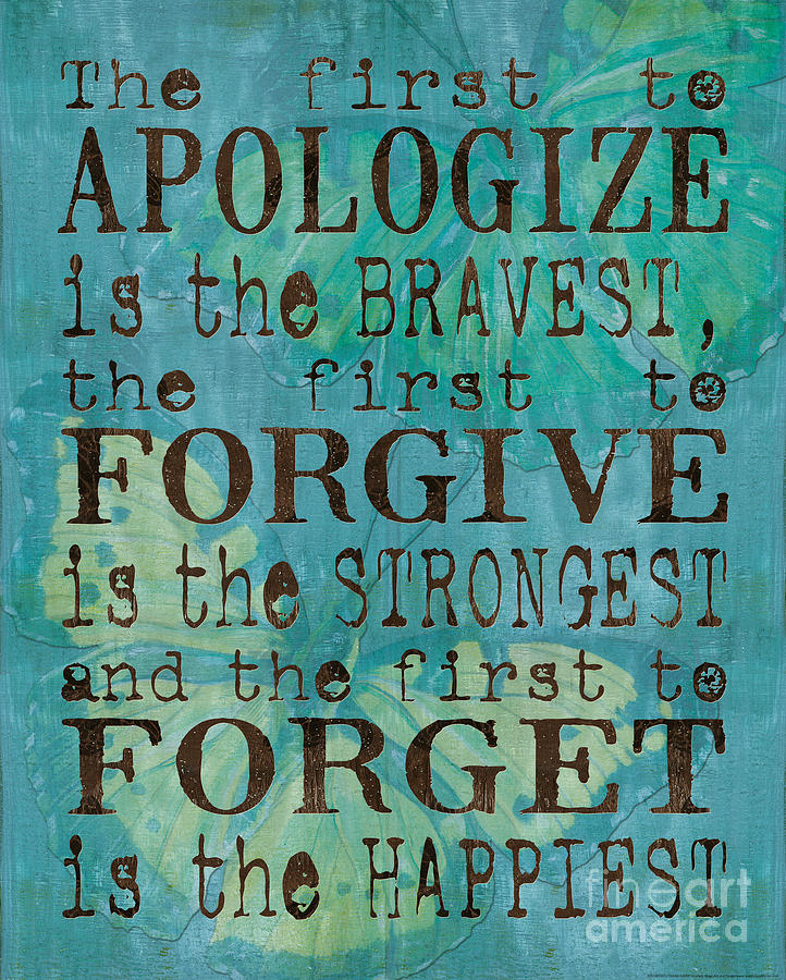 Inspirational Painting - The First To Apologize by Debbie DeWitt