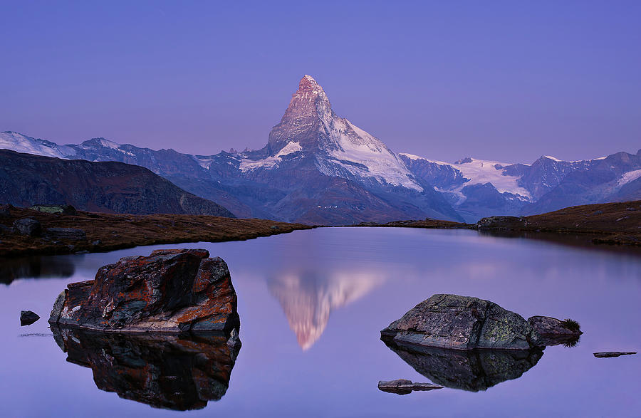 Mountains Photograph - The First Touch by Krzysztof Mierzejewski