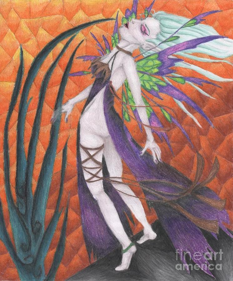 Stained Glass Drawing - The First Wave Of Unabashed Ecstacy by Coriander  Shea