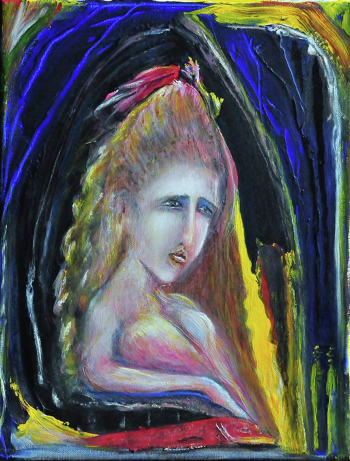 Woman Painting - The Fishermans Wife by Kicking Bear  Productions
