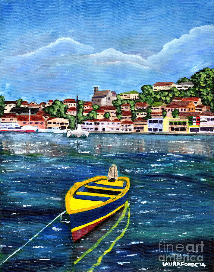 The Fishing Boat is a painting by Laura Forde which was uploaded on ...