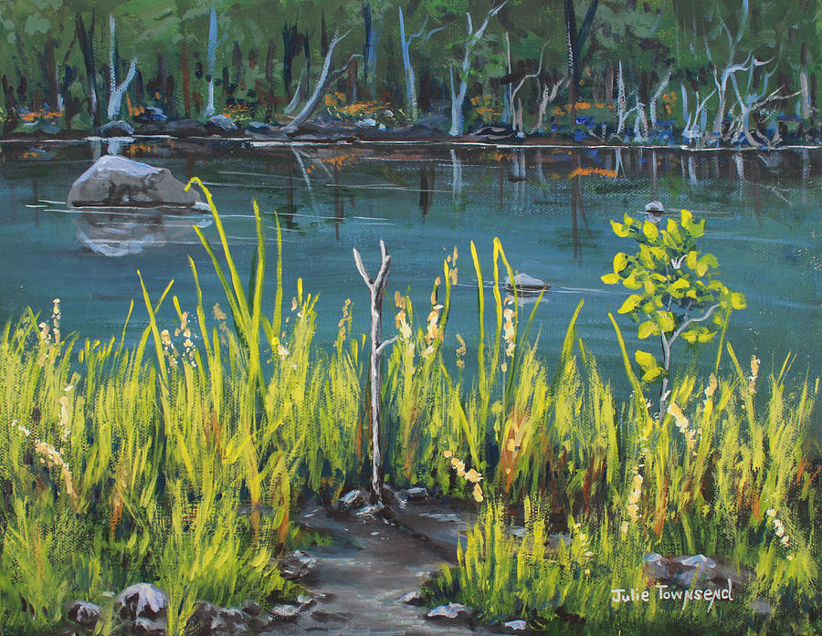Fishing Painting - The Fishing Hole by Julie Townsend