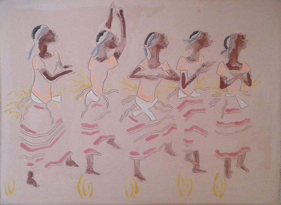 Jesus Painting - The Five Wise Virgins by Gloria Ssali