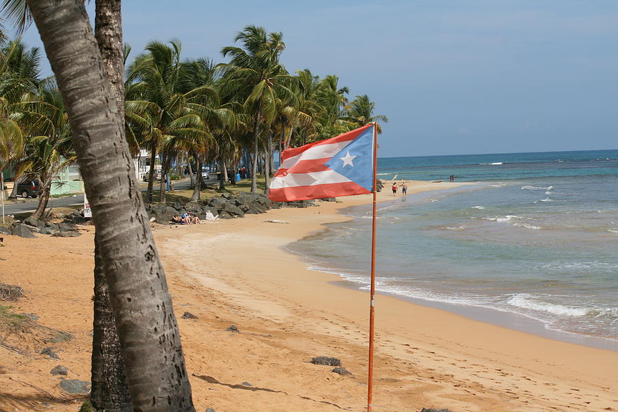 The Flag Of Puerto Rico Tapestry