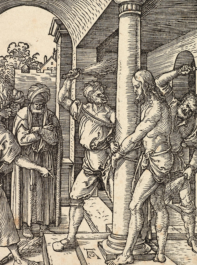 Son Of God Painting - The Flagellation by Albrecht Durer